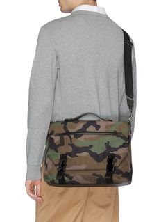 Valentino Camouflage print messenger bag