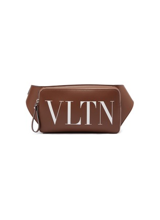 Main View - Click To Enlarge - Valentino - Logo print leather bum bag