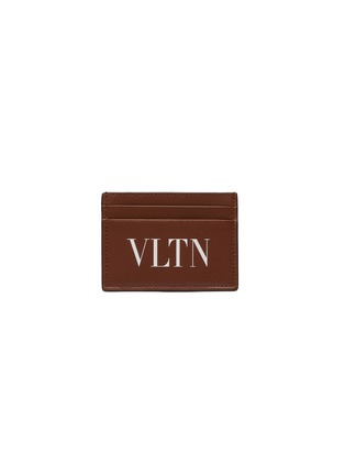 Main View - Click To Enlarge - Valentino - Logo print leather card holder