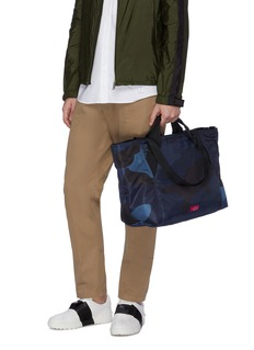 Valentino Camouflage print padded weekend bag