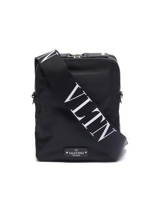 Main View - Click To Enlarge - Valentino - Logo strap crossbody bag