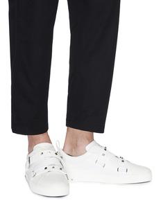 Valentino 'V-Punk' crisscross strap leather sneakers