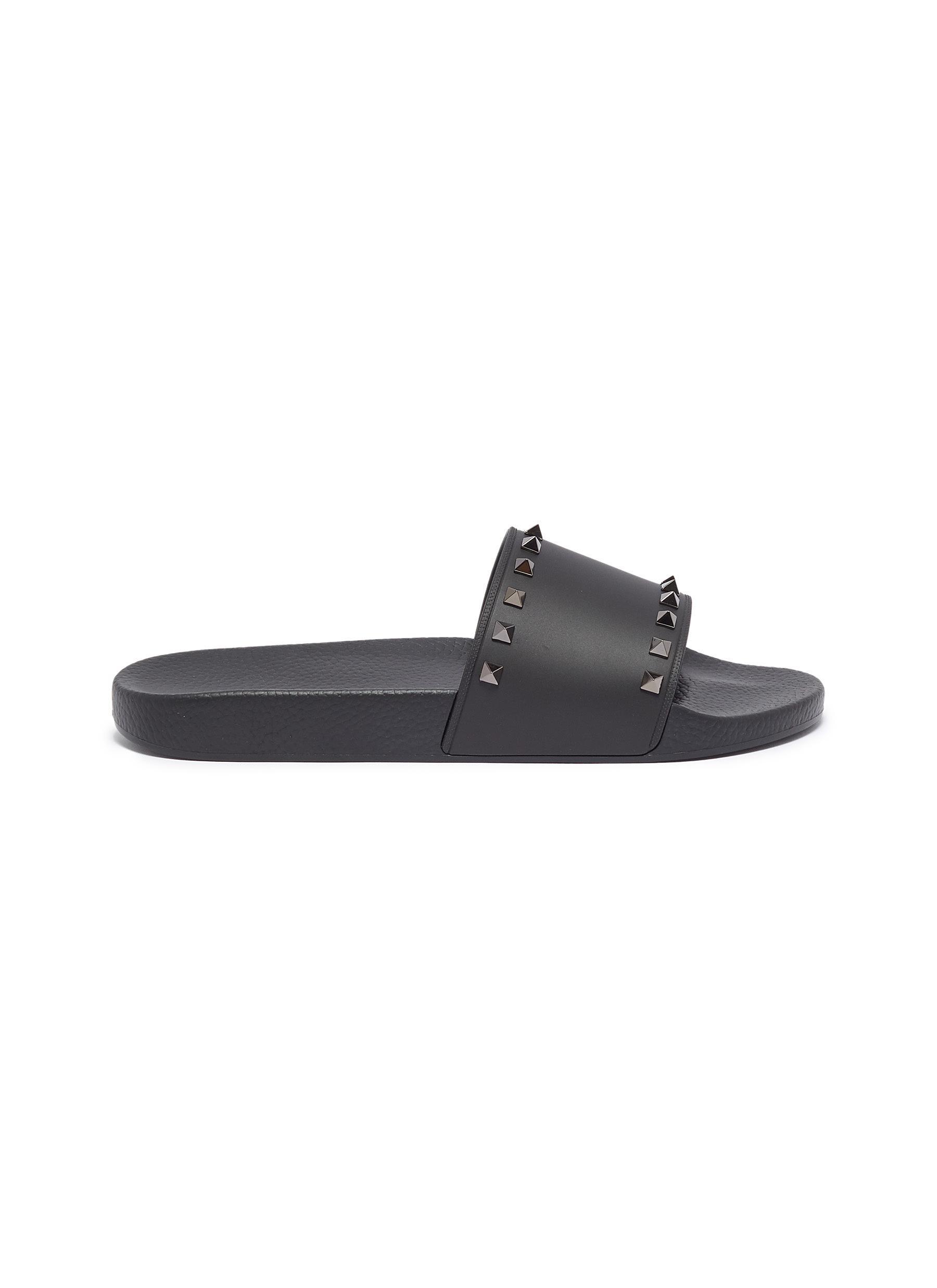 d191c05b8100 Main View - Click To Enlarge - Valentino - Rockstud slide sandals