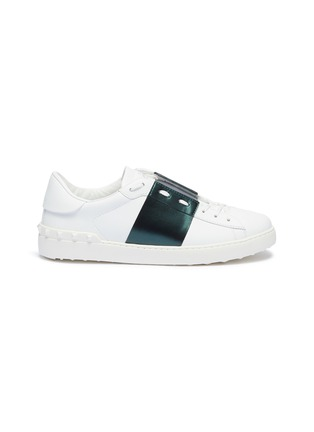 Main View - Click To Enlarge - VALENTINO - 'Open' colourblock leather sneakers
