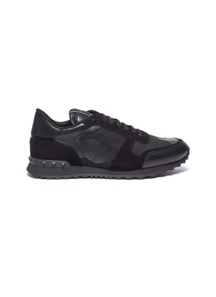 Main View - Click To Enlarge - VALENTINO - 'Rockrunner' patchwork sneakers
