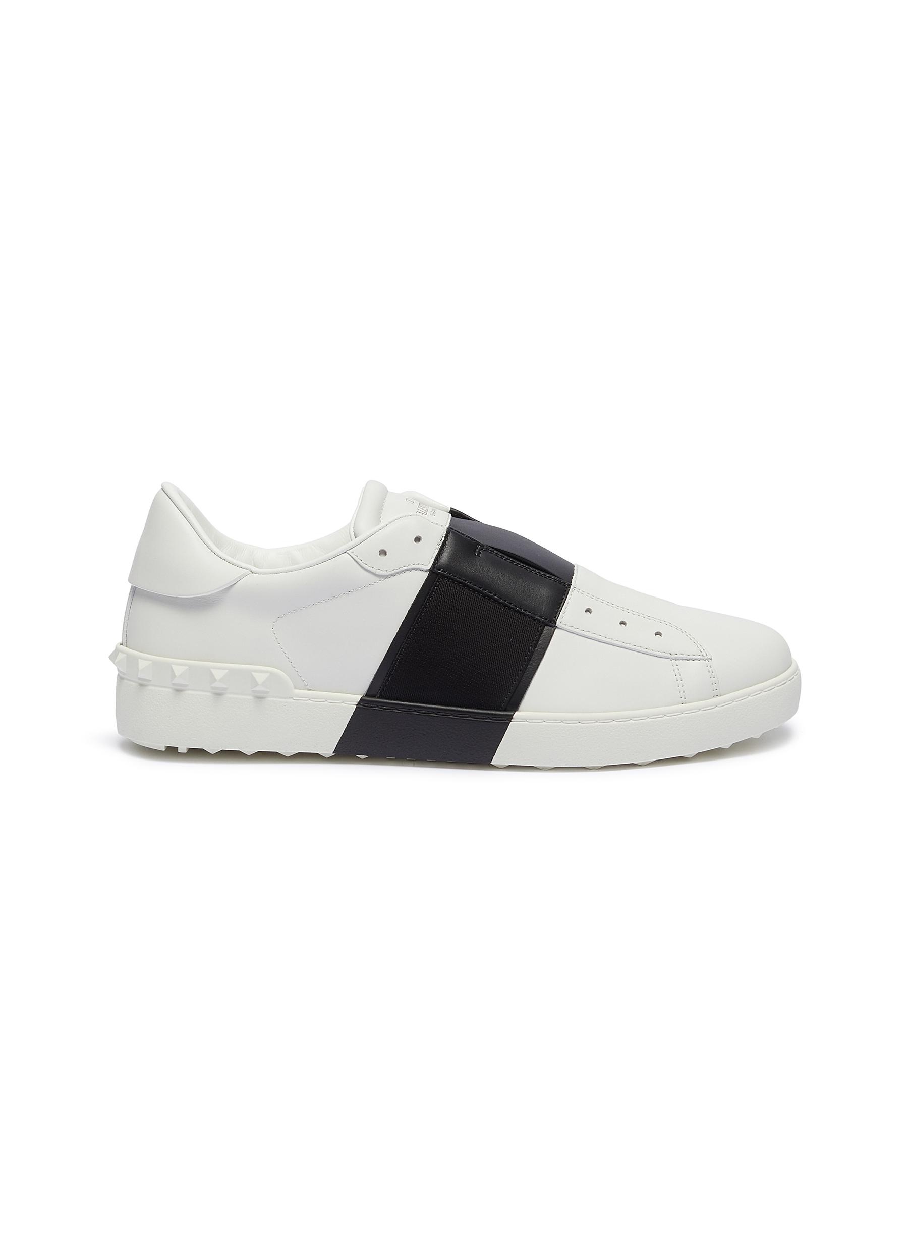 aa6089a5f7ab Main View - Click To Enlarge - Valentino - Rockstud colourblock leather slip-on  sneakers