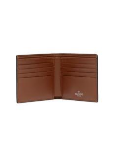 Valentino Logo cross print leather bifold wallet
