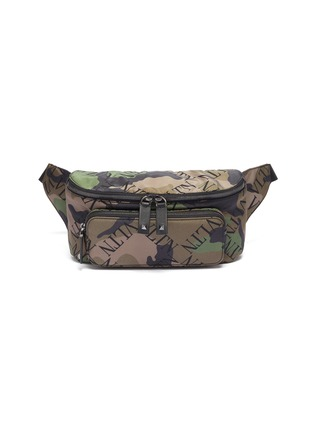 Main View - Click To Enlarge - VALENTINO - Logo camouflage print bum bag