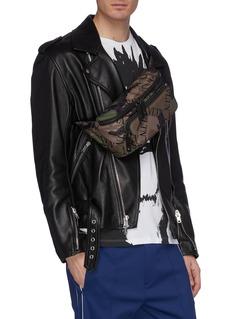 Valentino Logo camouflage print bum bag