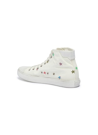 - SAINT LAURENT - 'Bedford' star print canvas high top sneakers