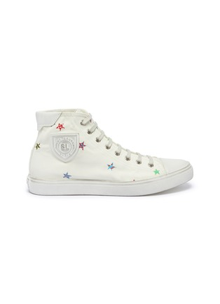 Main View - Click To Enlarge - SAINT LAURENT - 'Bedford' star print canvas high top sneakers