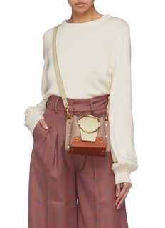 Yuzefi 'Mini Delila' oversized ring leather bucket bag