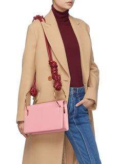 Roksanda 'Dia' metal ring knotted strap leather shoulder bag