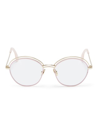f7d1ce615659 ZANZAN  Tita  cutout browline metal muffin frame optical glasses ...