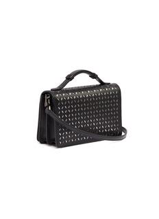 Alaïa 'Petale' small geometric lasercut leather top handle bag