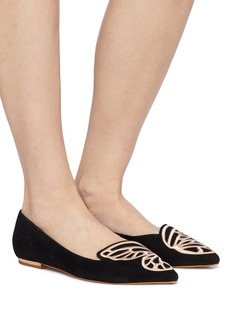 Sophia Webster 'Bibi Butterfly' wing embroidered suede flats