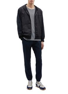 nanamica Nylon panel ALPHADRY® zip hoodie