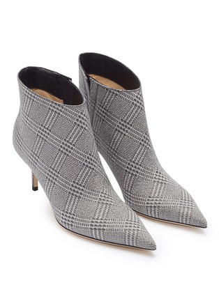 Detail View - Click To Enlarge - JIMMY CHOO - 'Marinda 65' Prince of Stars check plaid ankle boots