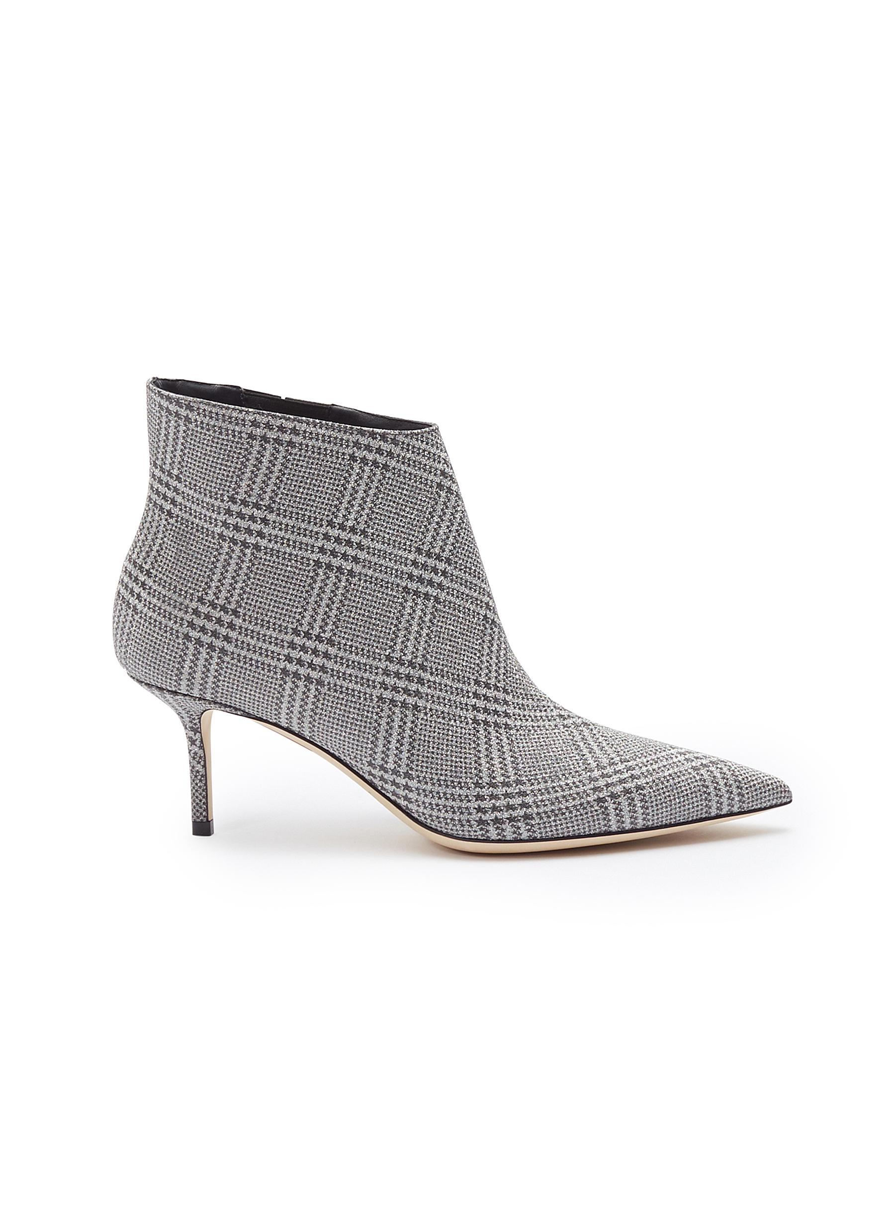 Marinda 65 Prince of Stars check plaid ankle boots by Jimmy Choo