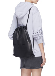 A-Esque Leather drawstring backpack