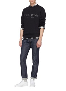 rag & bone 'Upside Down' logo print sweatshirt