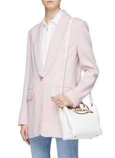 Sophia Webster 'Hold Me' slogan handle leather shoulder bag