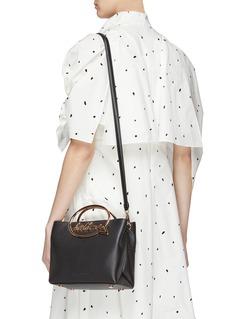 Sophia Webster 'Hold Me' slogan leather shoulder bag
