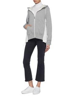 Sacai Colourblock contrast back zip hoodie