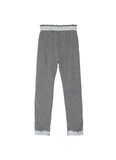 Sacai Denim patchwork kids jogging pants