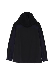 Sacai Contrast back kids zip hoodie