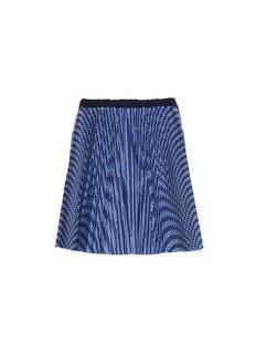 Sacai Pleated stripe back kids denim skirt