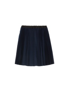 Sacai Pleated back kids denim skirt