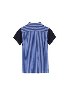 Sacai Shirt collar poplin back kids T-shirt