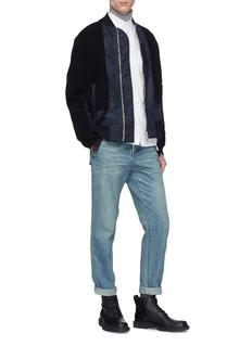 Sacai Knit panel patchwork bomber jacket