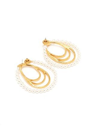 Detail View - Click To Enlarge - Oscar de la Renta - Faux pearl multi hoop earrings
