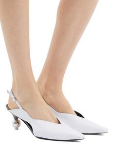 YUUL YIE 'Doreen' faux pearl heel slingback pumps