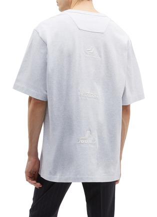Back View - Click To Enlarge - Juun.J - Slogan embroidered photographic print T-shirt