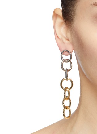 Figure View - Click To Enlarge - KENNETH JAY LANE - Interlocking ring chain drop earrings