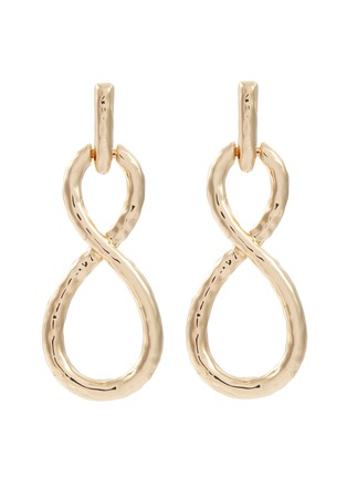 Main View - Click To Enlarge - KENNETH JAY LANE - Infinity loop drop earrings