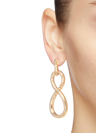 Figure View - Click To Enlarge - KENNETH JAY LANE - Infinity loop drop earrings