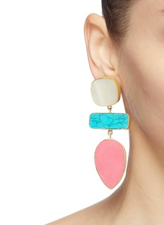 Kenneth Jay Lane Geometric link drop earrings