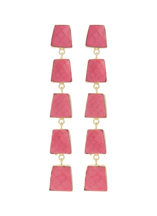 Main View - Click To Enlarge - KENNETH JAY LANE - Geometric link drop earrings