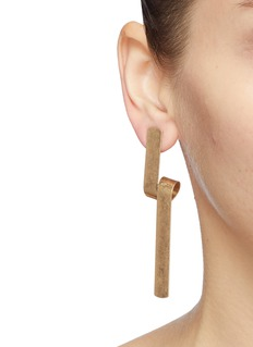 Kenneth Jay Lane Curled bar drop earrings