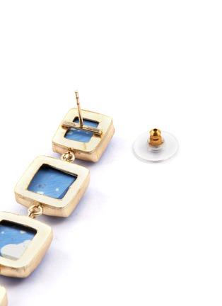 Detail View - Click To Enlarge - KENNETH JAY LANE - Geometric link drop earrings