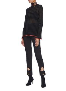 Ellery 'Editore' metallic stripe turtleneck sweater