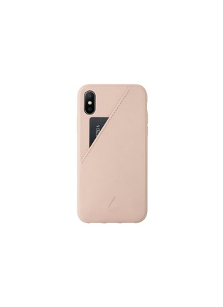 Main View - Click To Enlarge - NATIVE UNION - CLIC Card iPhone X/XS case –Rose