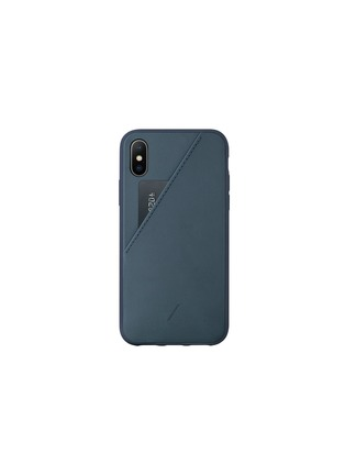 Main View - Click To Enlarge - NATIVE UNION - CLIC Card iPhone X/XS case –Navy