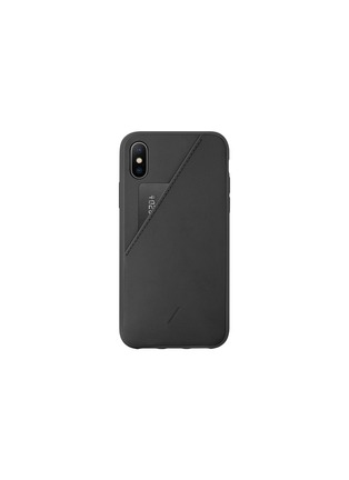 Main View - Click To Enlarge - NATIVE UNION - CLIC Card iPhone X/XS case –Black
