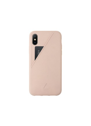 Main View - Click To Enlarge - NATIVE UNION - CLIC Card iPhone XS Max case – Rose