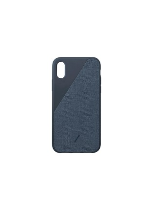 Main View - Click To Enlarge - NATIVE UNION - CLIC Canvas iPhone X/XS case – Navy
